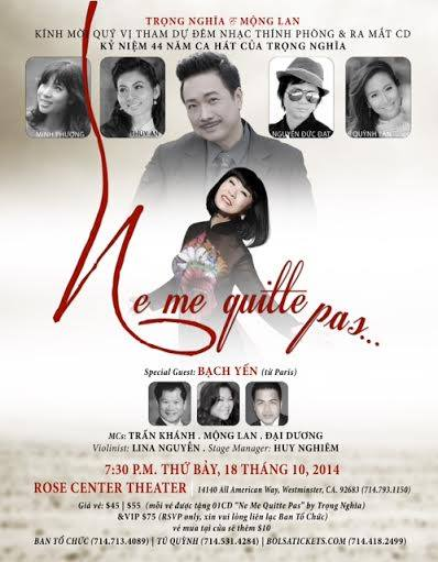 poster ne me quitte pas trong nghia bach yen 18 october 2014