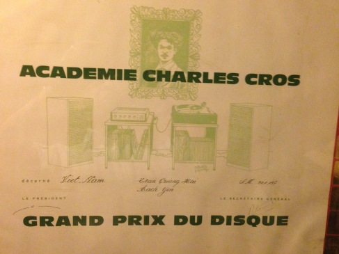 Grand Prix de l'Académie CHARLES CROS , Paris 1983